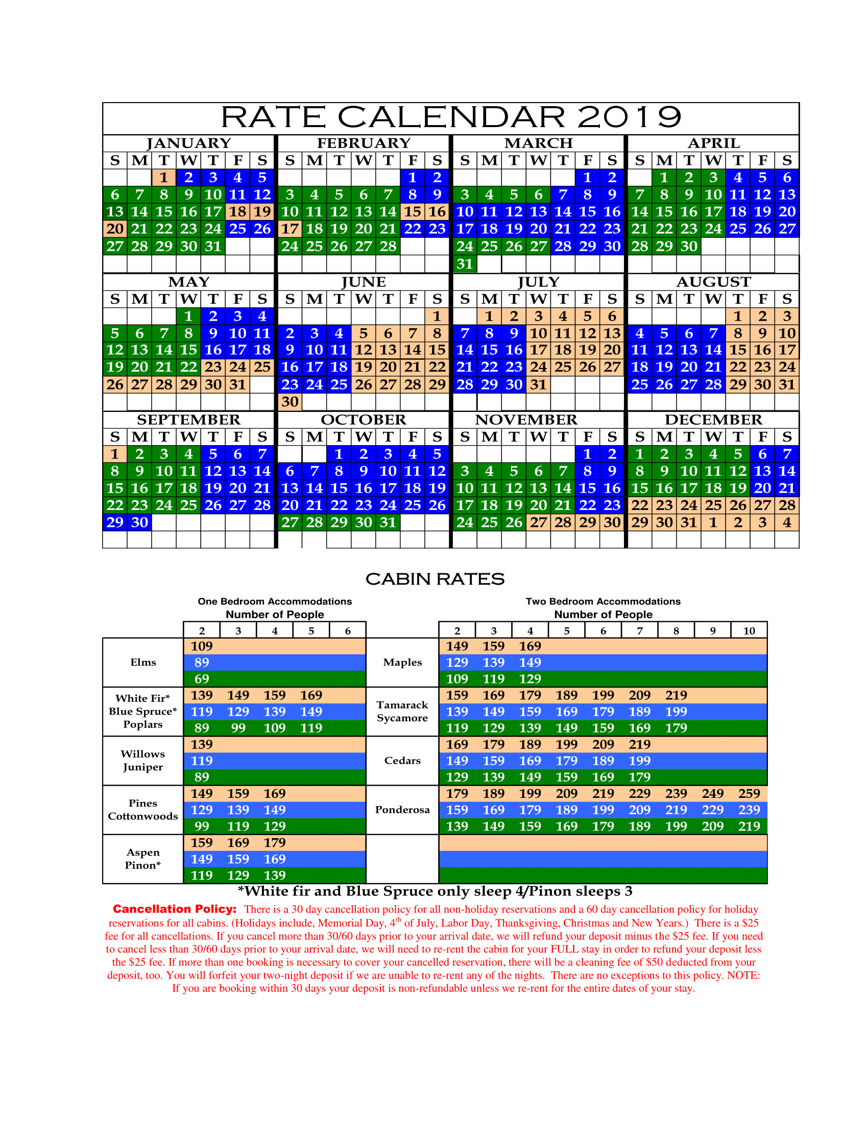 Christmas In The Oaks 2019.Reserve Rates Policies Lazy Oaks Page 4580557603